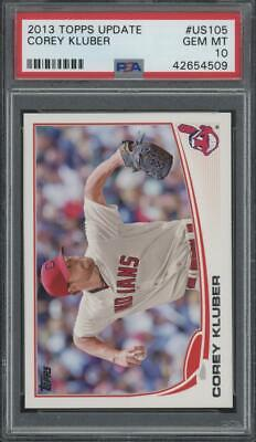 2013 Topps Update #US105 Corey Kluber RC Rookie Gem Mint PSA 10