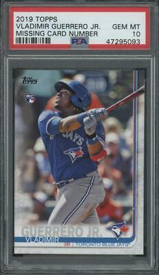 2019 Topps Missing Card Number Vladimir Guerrero Jr RC Rookie Gem Mint PSA 10