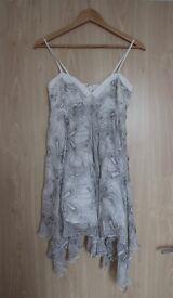 100% Silk Cocktail Dress Size 8/xs - Never Worn