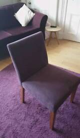 6 purple upholstered chairs