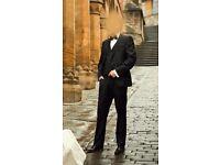 Next Man's Black Wedding Suit with waistcoat - wedding groom
