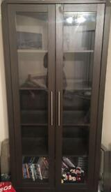 Dark brown glass display cabinet DELIVERY AVAILABLE