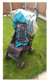 Silvercross pop stroller, black with blue bear design
