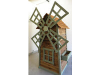 Wooden Windmill Garden Shed