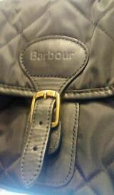 Barbour black quilted messenger bag