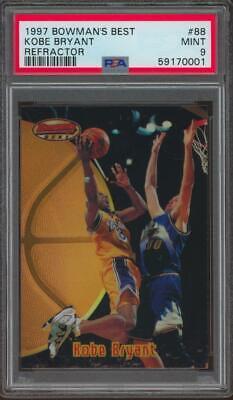 1997 Bowman's Best Refractor #88 Kobe Bryant Mint PSA 9