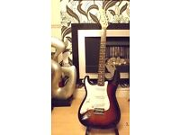 LEFT handed guitar ,strat copy ,made by chase guitars ,