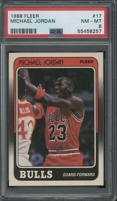 1988 Fleer #17 Michael Jordan Chicago Bulls PSA 8