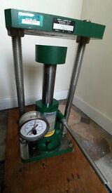 Carver 11 ton Hydraulic Laboratory press Model 3392