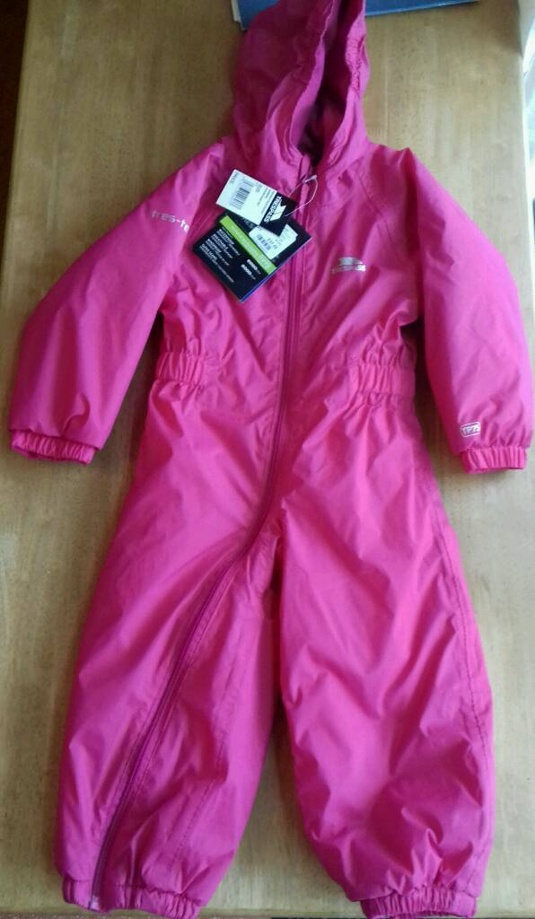 15f3bbe8f New Trespass Children s 2 3yr old all in one rain winter suit. Full body ...