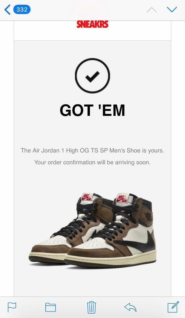 8b0b55d2 Nike Air Jordan 1 Retro High Mocha Travis Scott Cactus Jack Stock X UK Size  8.5