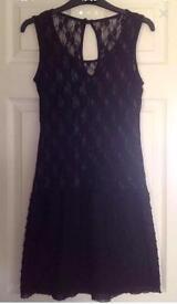 Ladies black lace dress size 6