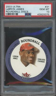 2003 Fleer Ultra Roundball Discs #31 LeBron James RC Rookie Gem Mint PSA 10
