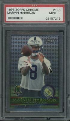 1996 Topps Chrome #156 Marvin Harrison RC Rookie Mint PSA 9