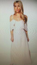 Pink maxi bridesmaid dress