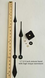 Make or Repair a Large Wall Clock w/ 17.75 Hands & High Torque Quartz Movement