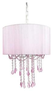 NEW Tadpoles 1 Bulb Shaded Chandelier, Pink