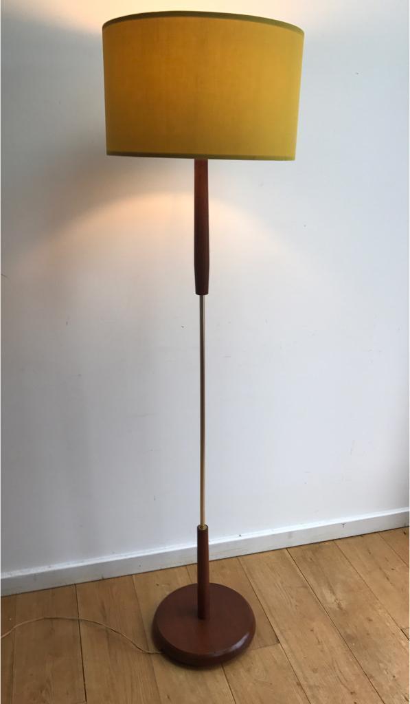 Vintage Mid Century Scandinavian Teak Floor Lamp