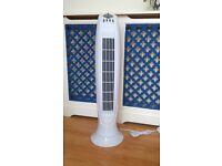 Blyss tower fan, three speed fan with timer