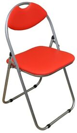 4 Folding red chairs for any occassion