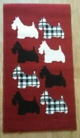 Gorgeous Red Scottie Dog design Rug Brand New