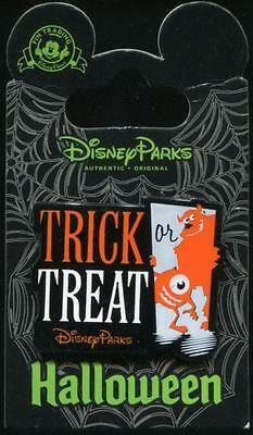 Mike & Sulley Trick or Treat Halloween Monster's Inc. U Disney Pin 110847 - Halloween Trick Or Treat
