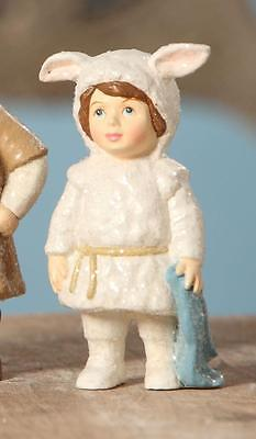 Bethany Lowe The Christmas Pageant Nativity Children Figure Girl Lost Lamb - Child Nativity Costumes