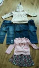 Girls jeans, jumper, tshirt & skirt age 3-4 years