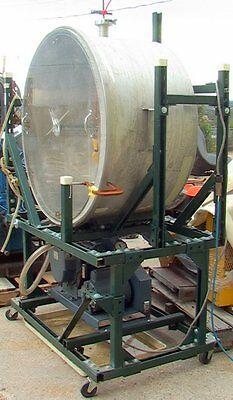 36diameter 20 Deep Stainless Pressure Vessel Vacuum Chamber W Welch 1397 Pum