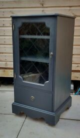 Glass fronted shabby chic storage cupboard