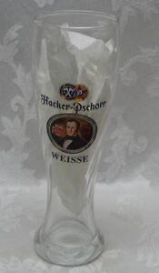 German Pilsner Beer Glass Swirl Mug Hacker Pschorr Germany Weisse 0.5L Embossed