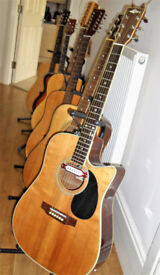 MARLIN MF-CAE Elec / Acoustic single cut-away right hand player 6 string Guitar. In good order