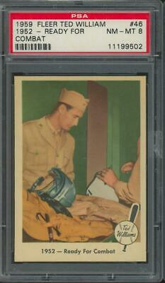 1959 Fleer 1952 Ready For Combat #46 Ted Williams NM-MT PSA 8