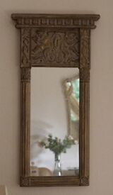 Mirror with decorative moulded frame 46 x 96cm & 6cm max deep
