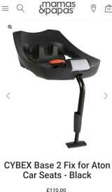 car seat fuss-free with the CYBEX Aton 2 Fix base