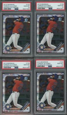 2019 Bowman Chrome #123 Yordan Alvarez RC Rookie Gem Mint PSA 10 Lot of 4