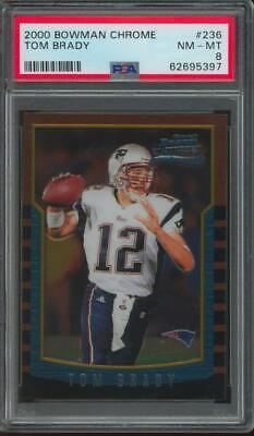 2000 Bowman Chrome #236 Tom Brady RC Rookie PSA 8
