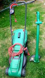 Electric mower and electric trimmer
