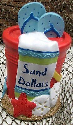 Sand Dollar Bank Nautical Beach Style Decor Sculpture Figurine 4 X 6 5