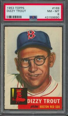 1953 Topps #169 Dizzy Trout NM-MT PSA 8