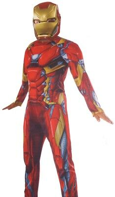 Boys Civil War Costume (Boys Civil War IRON MAN Muscle Halloween Purim Deluxe Costume Medium 8 10)