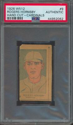 1926 W512 Hand Cut #9 Rogers Hornsby PSA/DNA Authentic