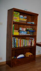 Bookcase with integrated toy chest