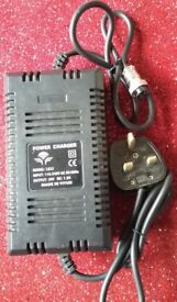 Power charger..Battery Charger 100-240 volts 50/60 Hz output 36 Volts. DC:1.5A