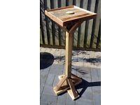 Reclaimed Barnwood BIRD TABLE