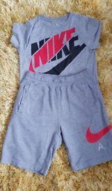 Boys Nike shorts and tshirt