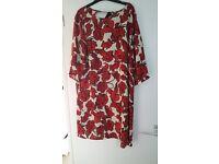 Primark Womens Printed Half Sleeve Swing Dress Floral Printed Size 18