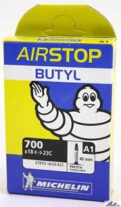 Michelin Airstop Butyl Road Bicycle Tube 700x18-23 40mm Presta Valve 700c A1