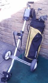 GOLF CLUBS, BAG, TROLLEY & BALLS An IDEAL Starter Set for someone just taking up golf