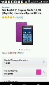Amazon fire tablet 16gb WiFi brand new
